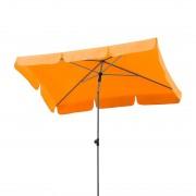 Parasol Micco III - staal/zilverkleurig polyester/mandarijnkleurig, Schneider Schirme