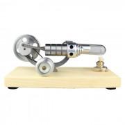 Air chaud Stirling moteur Aluminium micro-producteur moteur modèle jouet - argent + Transparent
