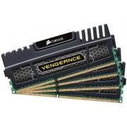 Corsair CMZ32GX3M4A1866C9 Vengeance Memoria per Desktop a Elevate Prestazioni da 32 GB (4x8 GB), DDR3, 1866 MHz, CL9, con Supporto XMP, Nero