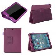 Apple iPad Air (iPad 5) - Leather Book Cover Flip Hoes voor bescherming voor- en achterkant - Kleur Paars