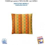 Amaca Casa Giardino Federa In Tinta Per Cuscino Colore Carolina Giallo Cap04-5