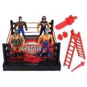 VT Super Rumble Wrestling Toy Figure Play Set w/ Ring 4 Toy Figures Accessories
