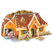 Mickey Mouse House 3D Puzzle 70-Piece