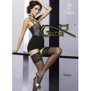 Fiore - Stockings with decorative lace top Venus