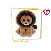 Ty - beanie babies - peluche cecil the lion cm 15
