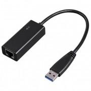 Adaptor Ethernet - USB 3.0 HAMA 53173, Gigabit, negru