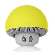 Boxa portabila Mushrooms, Bluetooth, 3W, Microfon / Handsfree, Galben