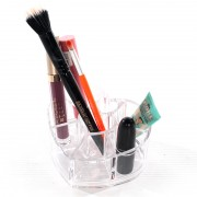 Acrylic Heart with Dividers - Cosmetic Organiser