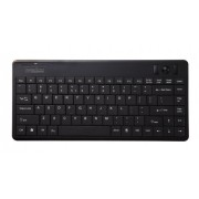 Perixx PERIBOARD-505H PLUS Wired USB Trackball Keyboard - Built-in 2x USB2.0 Hubs - Mini 12.40x5.79x0.83 Dimension - Fit with Professional or Industrial Use - US English Layout