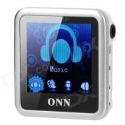 """ONN Q6 Mini 1.5 """"écran lecteur MP3 w / FM / Clip - Argent (4 Go)"""