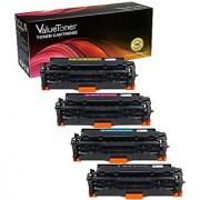 ValueToner Compatible Toner Cartridge for Canon 118 (1 Black 1 Cyan 1 Magenta 1 Yellow) 4 Pack Compatible With Color imageCLASS MF726Cdw MF8380cdw MF8580cdw MF8350cdn LBP-7660cdn LBP-7200cdn