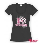 Pink Fit tričko, čierne, dámske