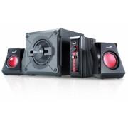 "BOXE 2.1 GENIUS .""SW-G2.1 1250"", RMS: 9Wx2 + 20Wx1, red & black, control box ""31730980100"" , BOXSW-G1250 - 187913 (include timbru verde 1 leu)"