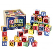 Schylling ABC Big Block 2 Pack - 96 Blocks Total - Extra Word & Phrase Possibilities! - 2 Items Bundled by Maven Gifts
