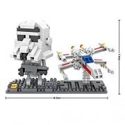 LOZ Star Wars Diamond Nano-Block(mini blocks) 2 pc set- Storm Trooper & Fighter with BOX!