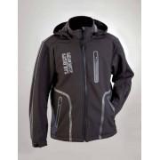 Softshell Jacke, Farbe schwarz/ grau, Gr. L
