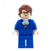 60's Super Spy (Blue) - miniBIGS Custom LEGO Minifigure