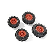 Rolly Toys 409853 pneumatic tires for tractors red rim