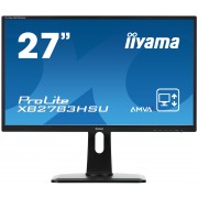 iiyama ProLite XB2783HSU-B1 27' LED LCD 1920x1080 4ms AMVA+ 13cm Height adj 300cd/m² 12M:1 ACR VGA HDMI DVI speakers USB-HUB TCO6