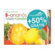 PhytoGold B-Ananás + Limão 60 comprimidos + 30 GRÁTIS