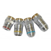 Obiectiv plan pentru microscop (4x, 160mm)