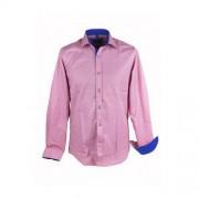ThomasWaxx Różowa koszula z granatowymi dodatkami