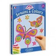 Sentosphère - 3902010 - Kit d'Activité - Sequins et Colours Papillons
