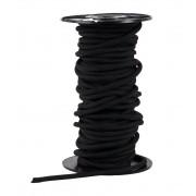 Gilmonte 4 mm-es fekete kötélgyűrű
