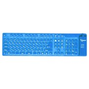 Tastatura GEMBIRD; model: KB-109FEL1-BL-US; layout: US; NEGRU; FLEXIBILA