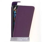 Yousave Accessories® Yousave Accessories Funda para Nokia Lumia 930 (piel sintética, con tapa) morado