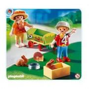 Playmobil - 4349 - Enfants Avec Chariot Et Petit...
