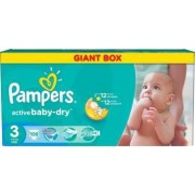 Scutece Pampers Active Baby 3 Giant Pack 108 buc