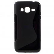 Bolsa de TPU S-Curve para Samsung Galaxy J3 - Preto
