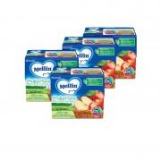 Mellin Frutta Pura - Kit risparmio 4x Fruttapura Mela - KIT_4X_Confezione da 400 g ℮ (4 vasetti x 100 g)