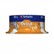 DVD-R 16x Verbatim Printable WIDE ID Tarrina 25 uds