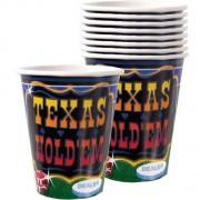 Texas Holdem 9oz Cups 8ct