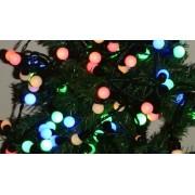 Karácsonyi led fényfüzér. nagy golyó beltéri füzér fára, 100 db színes leddel, RGB. Folyamatosan világít! Life Light led