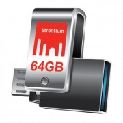 Strontium 64GB OTG 3.0 USB Flash Drive, For Smart Phones - Tablets - PC