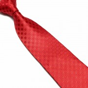 """Red Square Patterned Microfibre Tie"""
