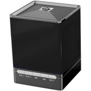 Pyle PBS9BK Bluetooth Mini Cube Speaker with Hands-Free Phone Function Aux-In 8 Hours of Playback