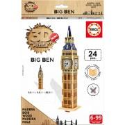 3D Monument Mini puzzle din lemn BIG BEN LONDON Educa EDU17304