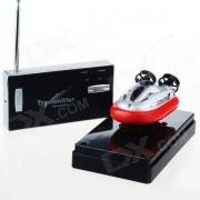 Mini recargable de 2 canales de radio control R / C Juguete Hovercraft - Rojo + Negro