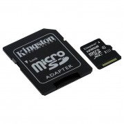Card Kingston microSDXC 128GB Clasa 10 UHS-I 45MBs cu adaptor SD
