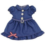 AOFUL Baby Doll Clothes Pretty Jeans Wear Dress Fits 16 American Girl Dolls and More