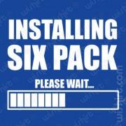 T-shirt Installing Six Pack