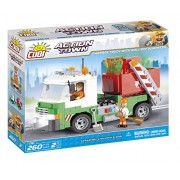 Cobi 1781 - Set Costruzioni Garbage Truck With Roll-Off Dumpster, Verde
