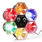 ONEconcept RBL 1 Disco hexagonal cu LED-uri RGB Effect (RBL1-DISCO-HEXAGON)