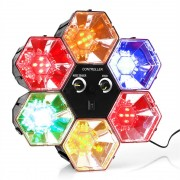 ONEconcept RBL 1 Disco hexagonal cu LED-uri RGB Effect