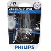 H7 Blue Vision Moto 12V 55W Px26D. Efect Xenon