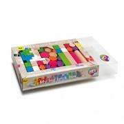 Erzi 36 x 21 x 6,2 centimetri tedesco giocattolo di legno Building Blocks Mix